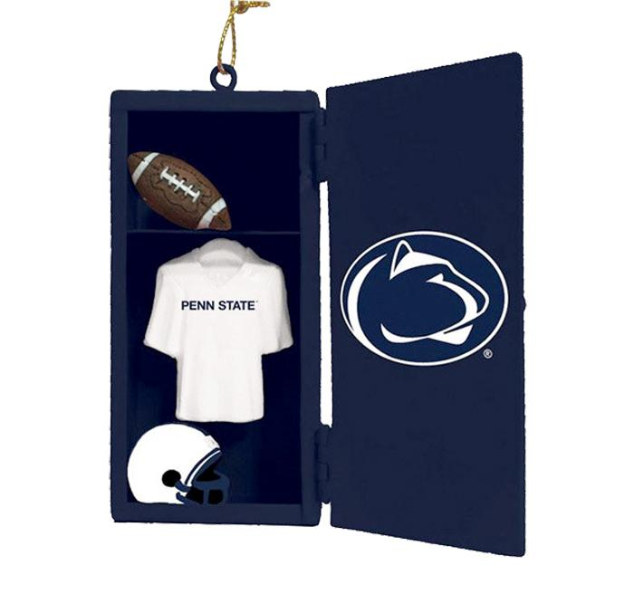 Penn state football locker ornament souvenirs holiday for Penn state decorations home