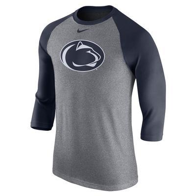 NIKE - Penn State Nike Men's Triblend Logo Raglan T-Shirt