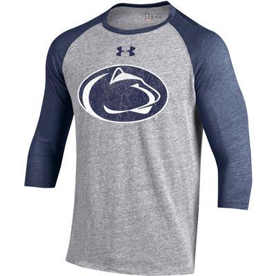 UNDER ARMOUR - Penn State Under Armour Men's 3/4 Sleeve Baseball T-Shirt