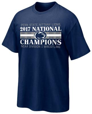 The Family Clothesline - Penn State 2017 Wrestling NATIONAL CHAMPIONS T-Shirt