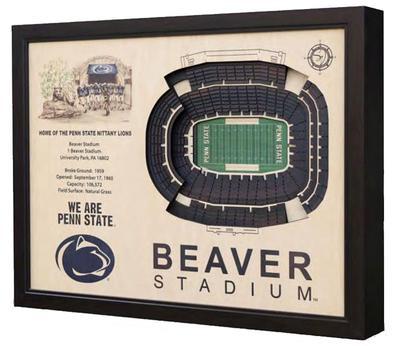 Stadium Views - Penn State Wooden Beaver Stadium View Frame