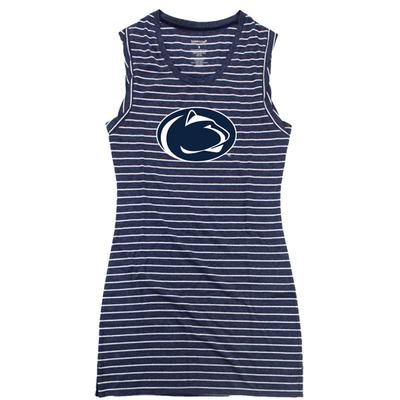 Boxercraft - Penn State Women's Striped T-Shirt Dress