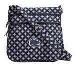 Penn State Vera Bradley Triple Zip Hipster Bag NAVY