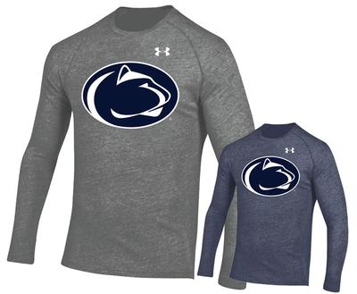 UNDER ARMOUR - Penn State Under Armour Men's Triblend Logo Long Sleeve