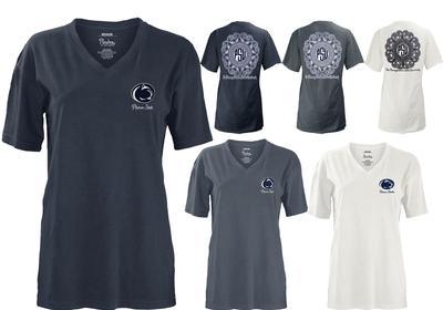 Press Box - Penn State Women's Hatha V-Neck T-Shirt