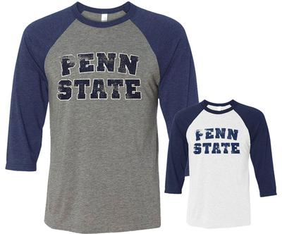 The Family Clothesline - Penn State 3/4 Baseball Long Sleeve