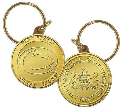Highland Mint - Penn State Bronze Gold Coin Keychain