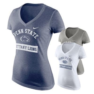 NIKE - Penn State Nike Women's PS Nit Lions V-Neck T-Shirt