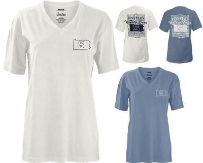 Press Box - Penn State Women's Country Lace V-Neck T-Shirt