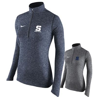 NIKE - Penn State Nike Women's Heather Element Quarter Zip