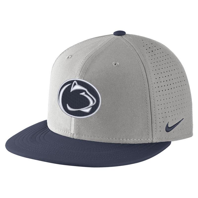 042cc1f94c6 Penn State Nike Adult Aero Bill True Hat GREY ...