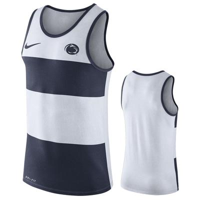 NIKE - Penn State Nike Men's NK Wide Stripe Dri-Fit Tank
