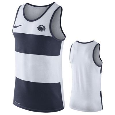 NIKE - Penn State Nike Men's NK Wide Stripe Dri-Fit Tank