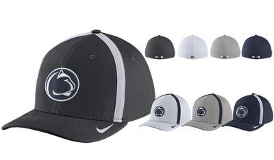 NIKE - Penn State Nike Adult Aerobill Swoosh Flex Hat