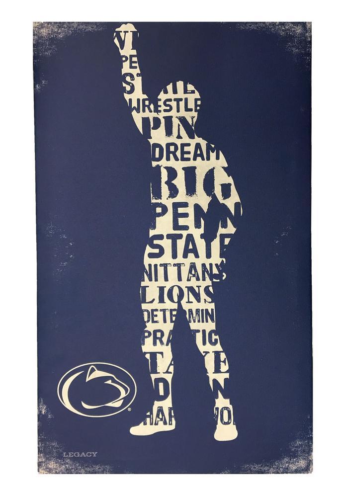 Penn State Wrestling 14 Quot X 23 Quot Canvas Souvenirs Gt Home