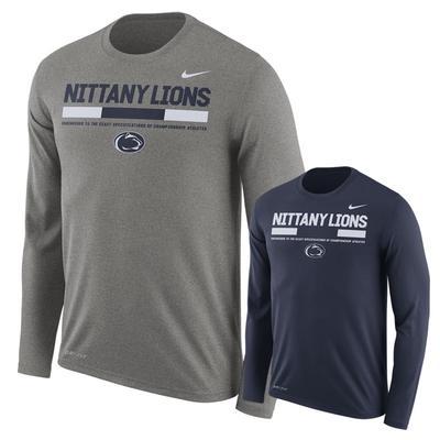 NIKE - Penn State Nike Men's Legend Staff Long Sleeve