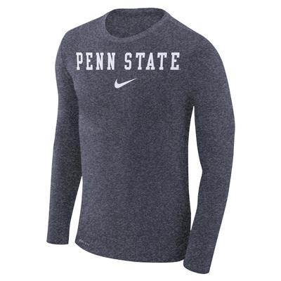 NIKE - Penn State Nike Men's Marled Long Sleeve