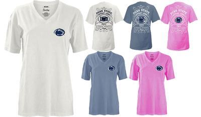 Press Box - Penn State Women's Cotton V-Neck T-Shirt