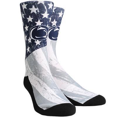 Rock Em - Penn State Adult Stars & Stripes Socks