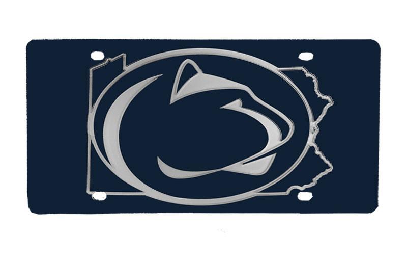 Penn state pa state logo license plate souvenirs car for Pa lifetime fishing license