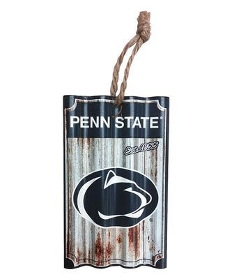 Team Sports America - Penn State Metal Corrugate Ornament