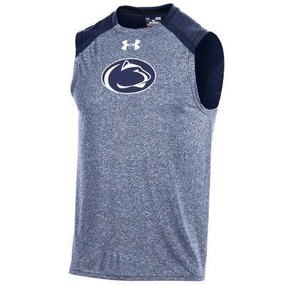 UNDER ARMOUR - Penn State Under Armour Men's Threadborne Sleeveless T-Shirt