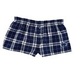 Penn State Women's Flannel Plaid Bitty Boxers