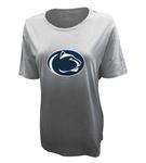 Penn State Under Armour Women's Dip Dye T-Shirt W/GRY