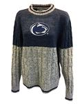 Penn State Women's Cable Knit Sweater NAVYGREY