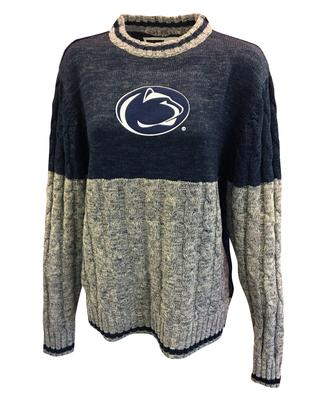 Bruzer - Penn State Women's Cable Knit Sweater