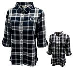 Penn State Women's Plaid Boyfriend Flannel Shirt