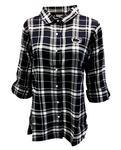 Penn State Women's Plaid Boyfriend Flannel Shirt N/W