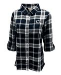 Penn State Women's Plaid Boyfriend Flannel Shirt N/W/G