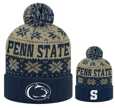 Top of The World - Penn State Adult Knit Subarctic Hat