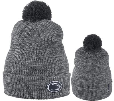 NIKE - Penn State Nike Removable Pom Knit NK Heather Hat