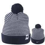 Penn State Nike Removable Pom Knit Stripe Hat