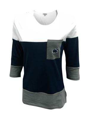 University Girls - Penn State Women's Striped 3/4 Long Sleeve