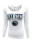 Penn State Women's Particular Scoop Long Sleeve WHITE