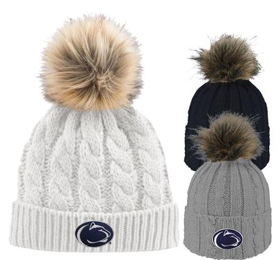 LogoFit - Penn State Adult Faux Fur Alps Knit Hat