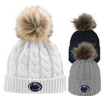 Penn State Adult Faux Fur Alps Knit Hat