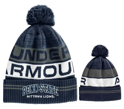 UNDER ARMOUR - Penn State Under Armour Adult Element 3.0 Knit Pom Hat