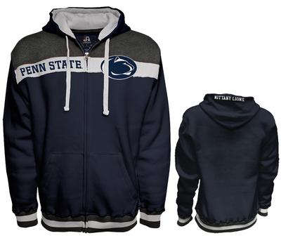 J. America - Penn State Men's RC Block Logo Full-Zip Hood