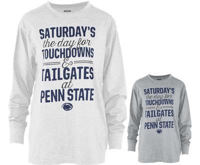 Press Box - Penn State Women's Melange Saturdays Long Sleeve