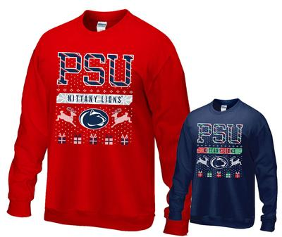 The Family Clothesline - Penn State PSU Holiday Adult Crew Sweatshirt