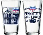 Penn State Football Schedule Fiesta Bowl 16oz Pint Glass