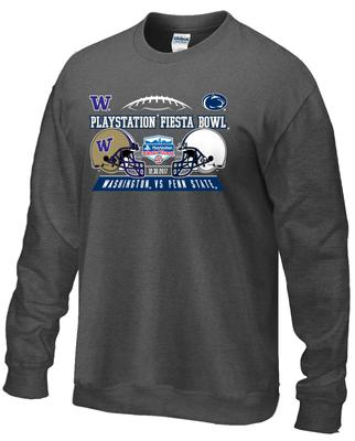 The Family Clothesline - Penn State Fiesta Bowl Team Helmets Adult Crew Sweatshirt