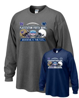 The Family Clothesline - Penn State Fiesta Bowl Team Helmets Adult Long Sleeve T-Shirt