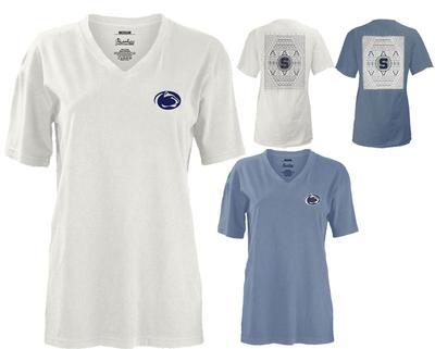 Press Box - Penn State Women's Aztec Diamond V-Neck T-Shirt
