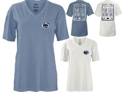 Press Box - Penn State Women's Ruffy V-Neck T-Shirt