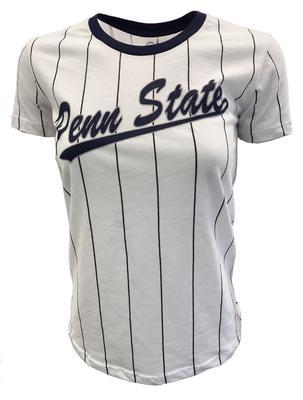 Blue 84 - Penn State Women's Hannah Striped Baseball T-Shirt